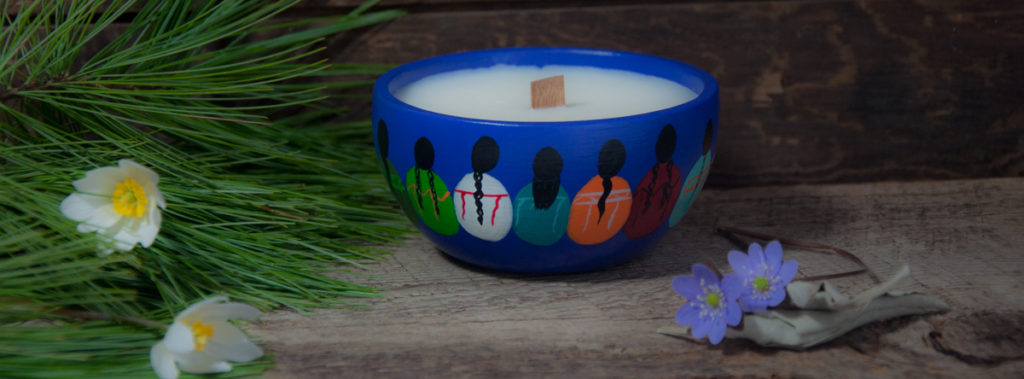 millside ceramics, tyendinaga, marleen murphy, native art, first nations artist, sacred circle, soy candles, canoe